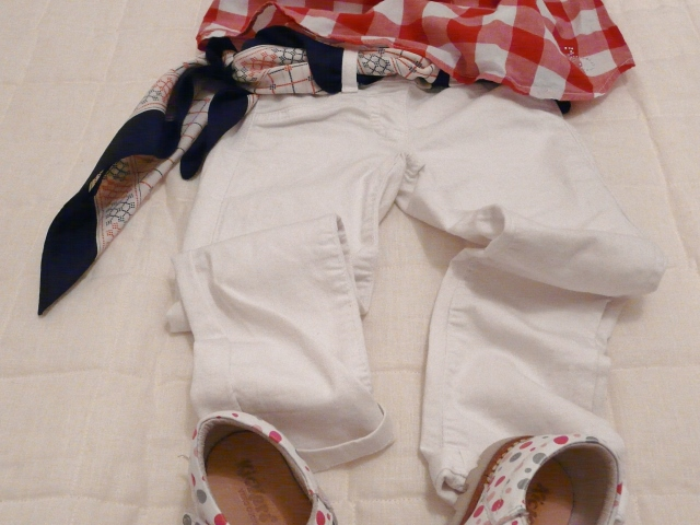 benetton kids white jeans