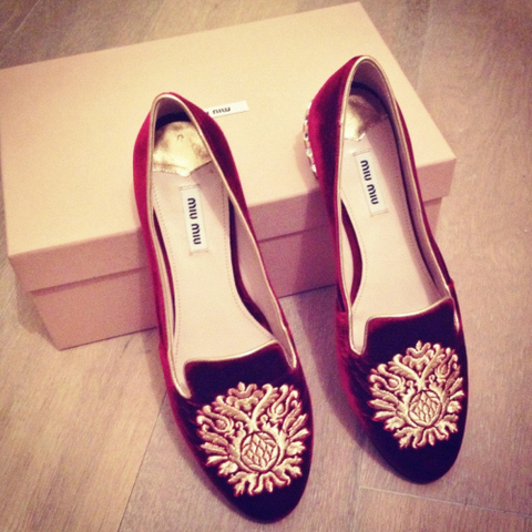 MIU MIU SLIPPERS