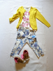 ZARA KIDS 2013 FLOWERS and yellow outfit
