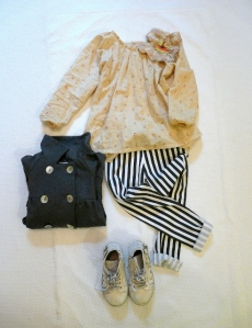 STRIPES and FLOWERS outfit bambini